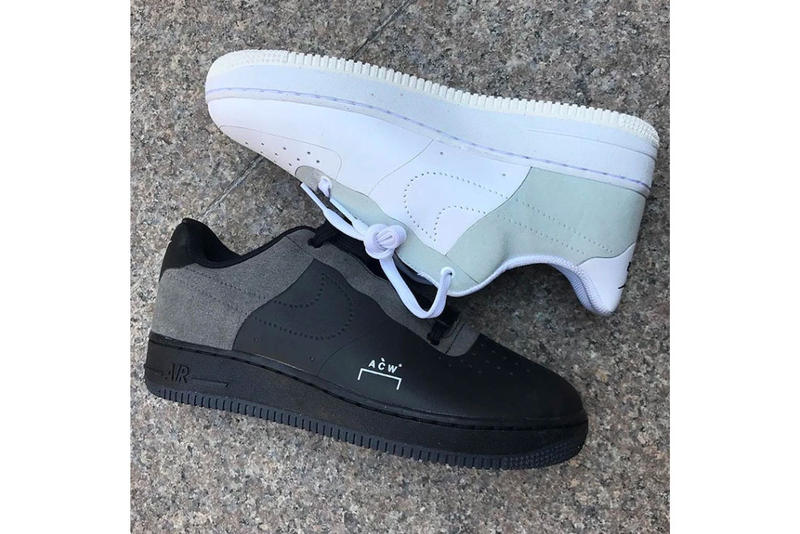 9c52eb120278 A COLD WALL Nike Air Force 1 Low Black Colorway Grey Leather Suede Samuel  Ross White