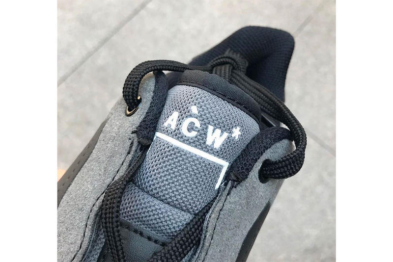 A COLD WALL Nike Air Force 1 Low Black Colorway Grey Leather Suede Samuel Ross White