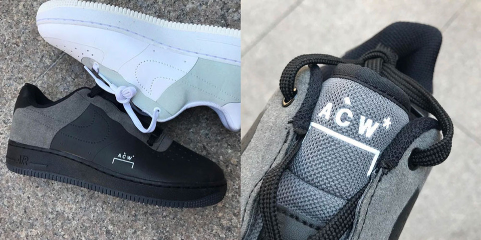 sale retailer 3a7c9 322ad A-COLD-WALL x Nike Air Force 1 Black Colorway  HYPEBEAST