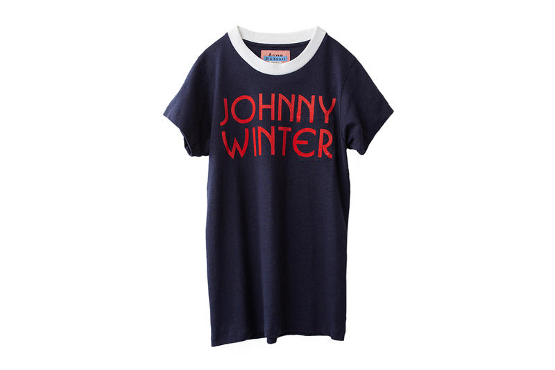 Acne Studios Johnny Winter Capsule Collection Clothing Fashion Cop Purchase Buy Jonny Johansson Charity Archive One-Off Musician Foundation for the Arts Sweden Stockholm Blues