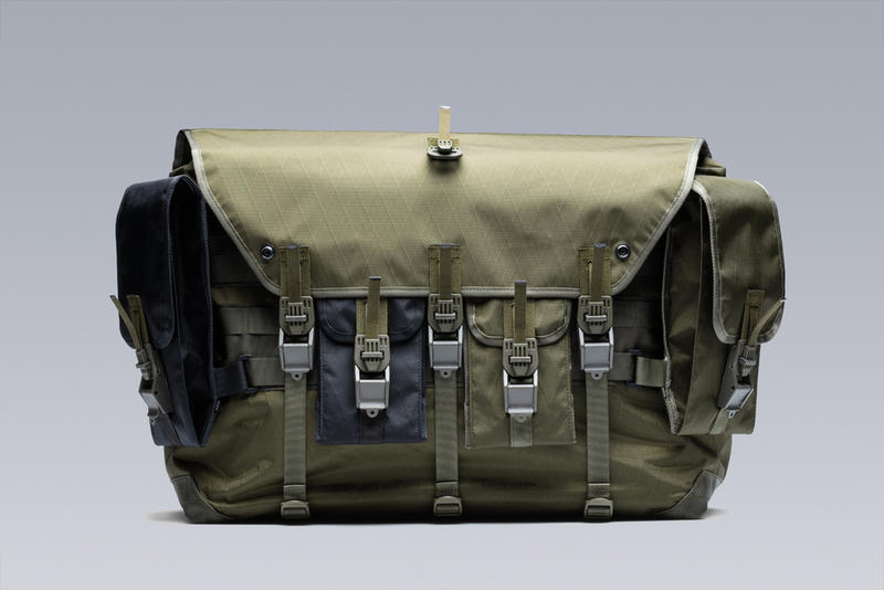 ACRONYM 3A-6TS messenger bag drop release fall winter 2018 olive back removable pouch third arm