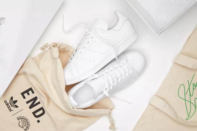 adidas Consortium x END. Stan Smith Collab Details Collaboration Shoes Sneakers Trainers Kicks Footwear Cop Purchase Buy Raffle £99 GBP London Store