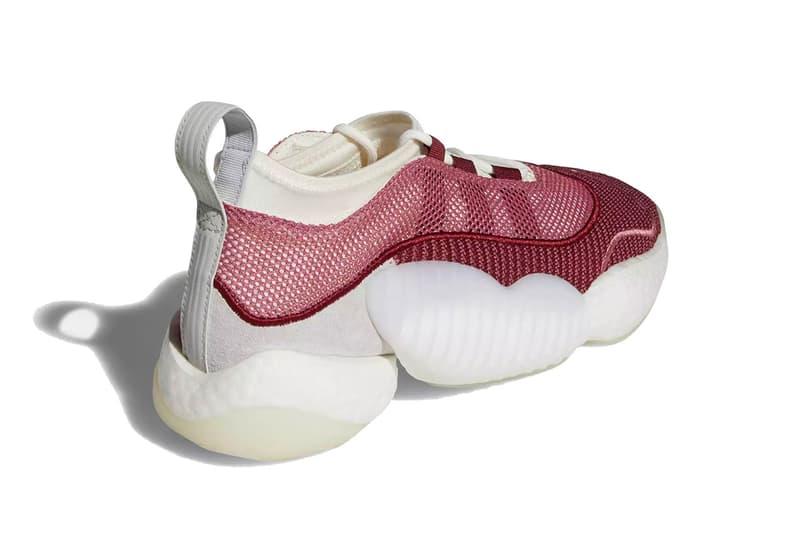 adidas crazy byw lvl 2 trace maroon running white clear orange 2018 footwear