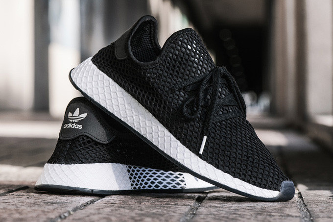 more photos d1161 9b059 adidas  KICKS LAB. Deliver a Black  White Take on the Deerupt Runner