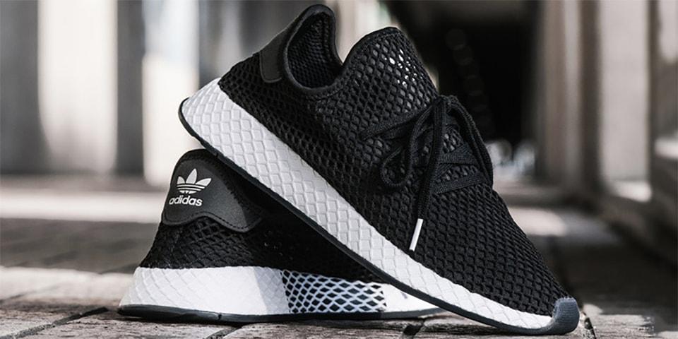 b60b91007fd09e adidas x KICKS LAB. Black White Deerupt Runner