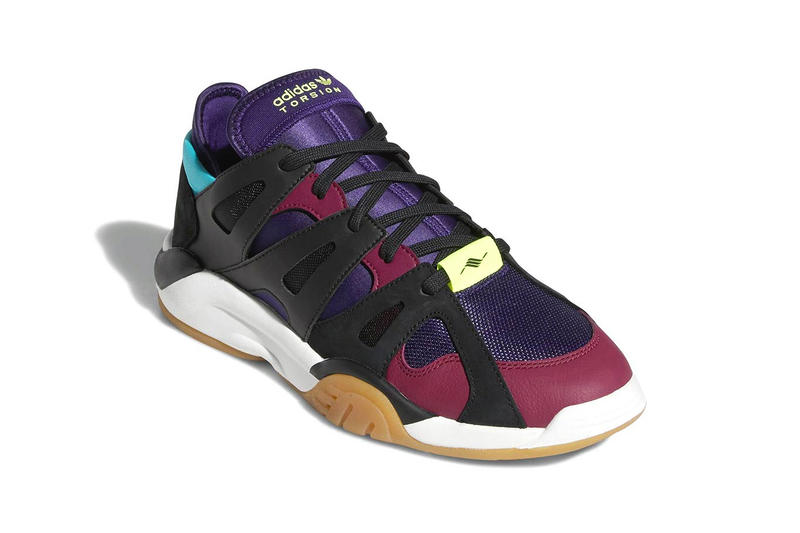 adidas Torsion Dimension Low Dark Plum black blue purple white gum release info sneakers
