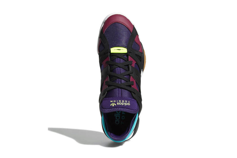adidas Torsion Dimension Low Dark Plum black blue purple white gum release info sneakers
