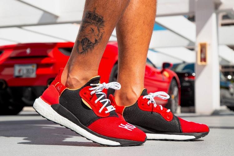 9bbafbd35d66f On-Foot Look at the Pharrell x adidas Solar Hu Glide Chinese New Year  Edition