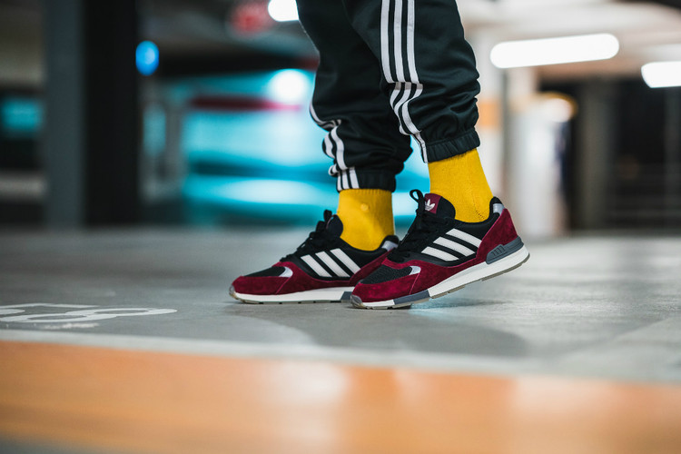 cc68d934a4b adidas Goes Back to the  80s for Red   Black Quesence