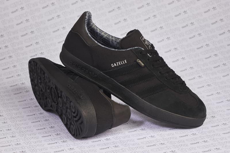 adidas originals gazelle indoor size? gore-tex all black colorway release information first look drop sneaker trainer footwear