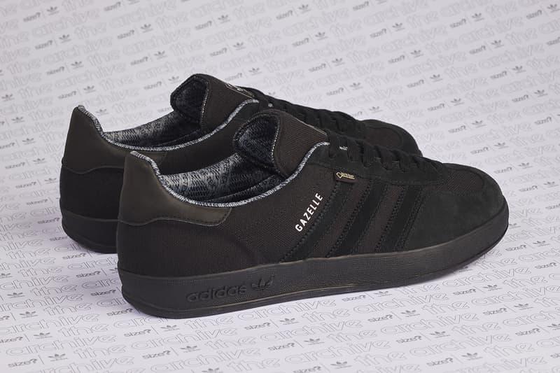 adidas originals gazelle indoor size  gore-tex all black colorway release  information first look cb465d110