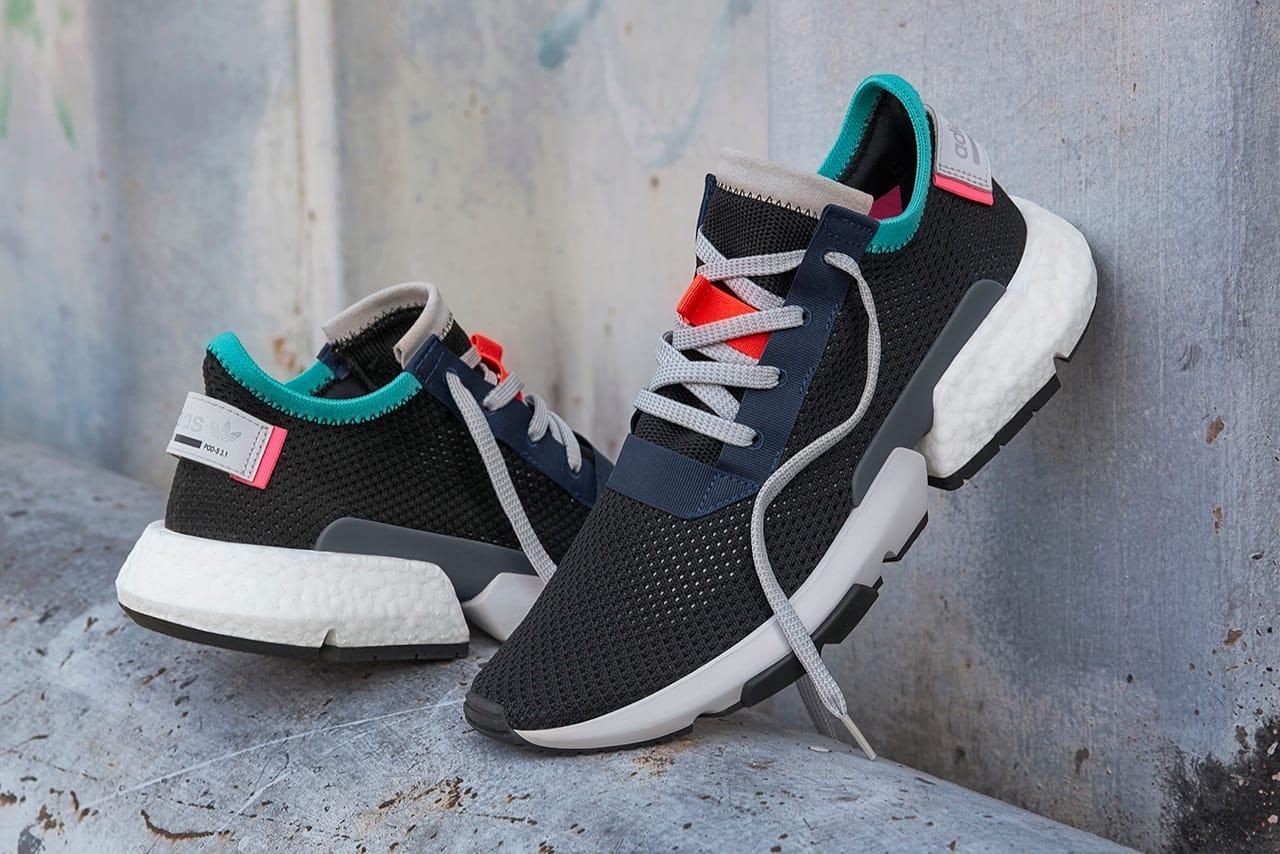 adidas pod black and pink
