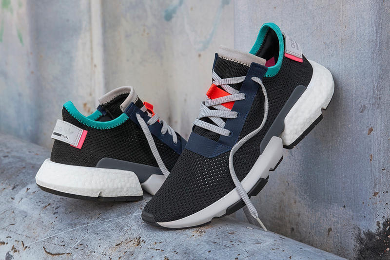 adidas Originals P.O.D-S3.1 Triple White Black Colorful Accents Pink Teal  Blue Red 2a9370a42