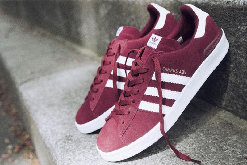 adidas Campus ADV Collegiate Burgundy skateboarding blondey mccoy buy release date price pricing october 6 2018 fall winter red white
