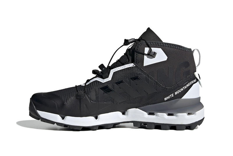 White Mountaineering x adidas Terrex Fast Release Date Shoes Trainers Kicks Sneakers Cop Purchase Buy Black White Monochrome hiking trail technical