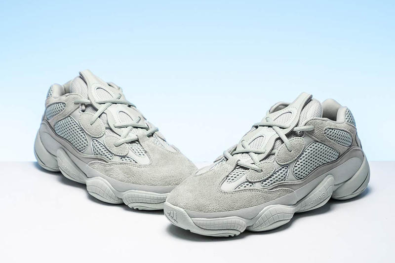 56ab7197ff1b6 adidas YEEZY 500 Salt Closer Look Light Grey Blue Colorway For Sale Retail  Information Release Date