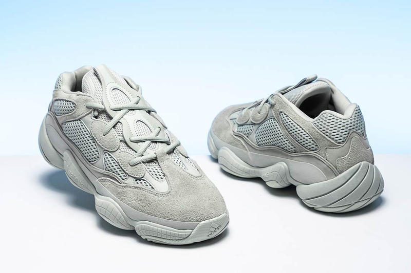 adidas YEEZY 500 Salt Closer Look Light Grey Blue Colorway For Sale Retail Information Release Date