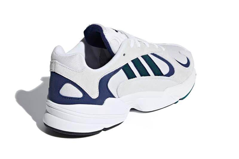 adidas yung 1 cloud white noble green blue 2018 november footwear