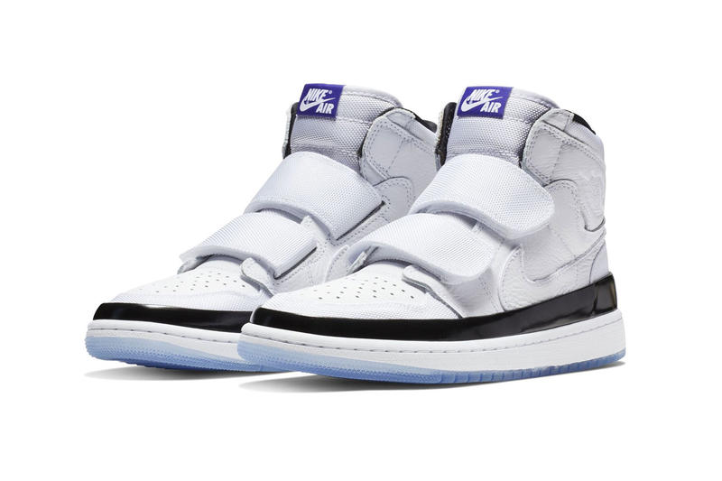 27a9f906b80f Air Jordan 1 High Double Strap Concord Release white leather black blue  white price 2018