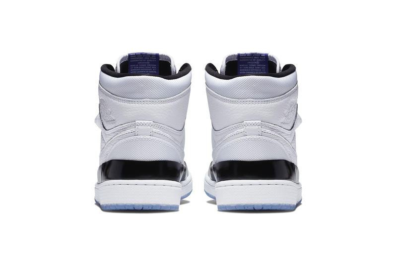 Air Jordan 1 High Double Strap Concord Release white leather black blue white price 2018