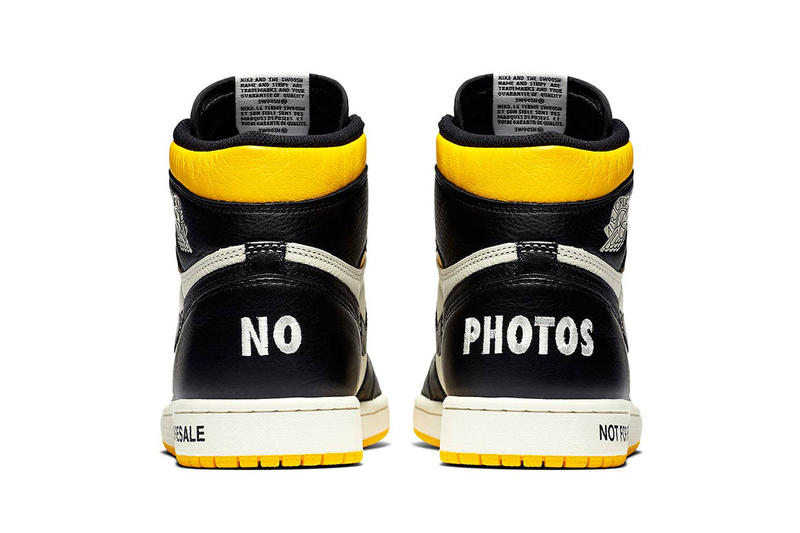 d5f916e70ff air jordan 1 retro high og not for resale white black sail yellow 2018  december jordan