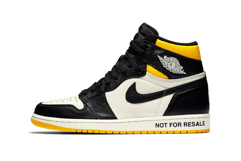 fe87f7ca8ffa4 air jordan 1 retro high og not for resale white black sail yellow 2018  december jordan