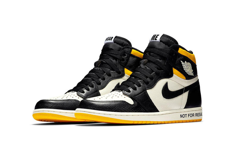 air jordan 1 retro high og not for resale white black sail yellow 2018 december jordan brand footwear no photos wear me please crease no ls
