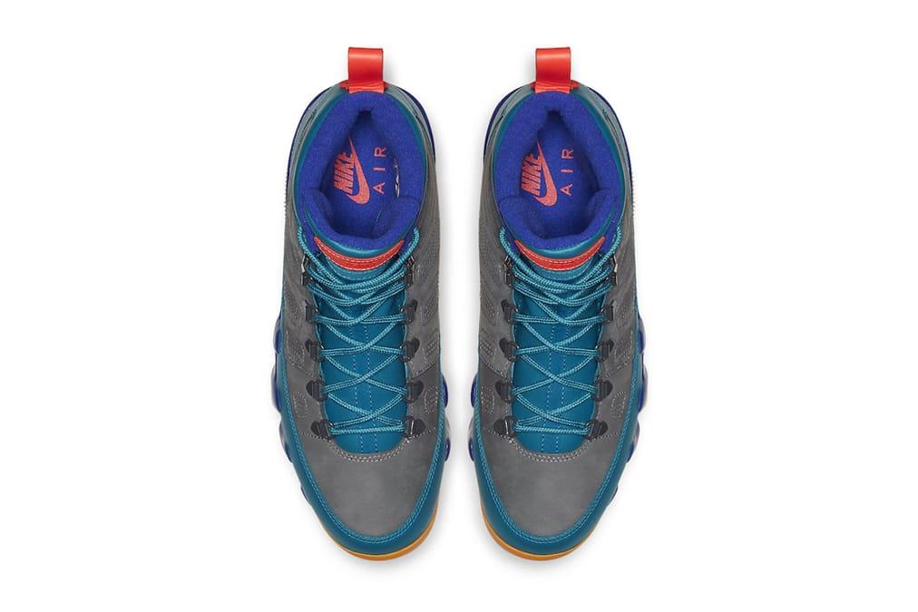 Air Jordan 9 Boot NRG Grey/Blue/Orange
