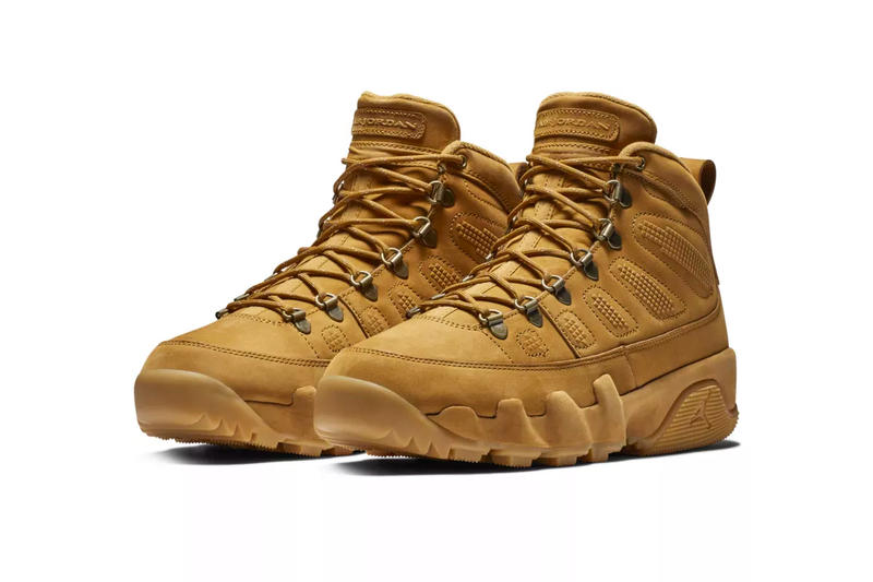 low priced 1f441 5fdf8 Air Jordan 9 Boot NRG Wheat Release Info Date Brand Brown timbs winter  outdoors rugged tread