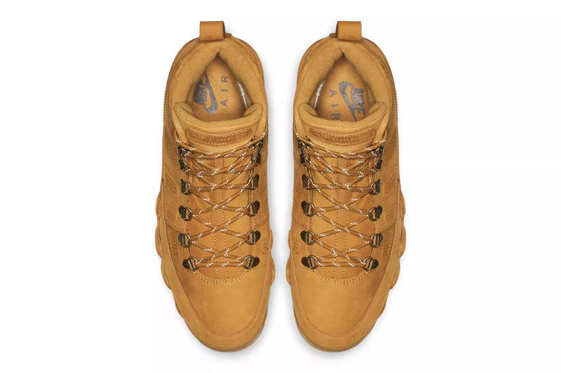 Air Jordan 9 Boot NRG Wheat Release Info Date Brand Brown timbs winter outdoors rugged tread hiking trail leather