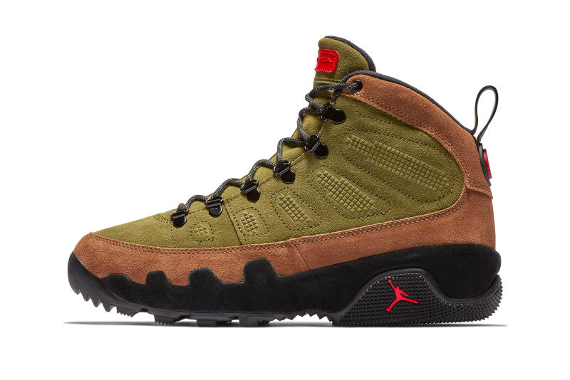 "Air Jordan 9 Retro Boot NRG ""Beef and Broccoli"" Release Date sneaker brown olive colorway price info purchase online october 2018 jordan brand"