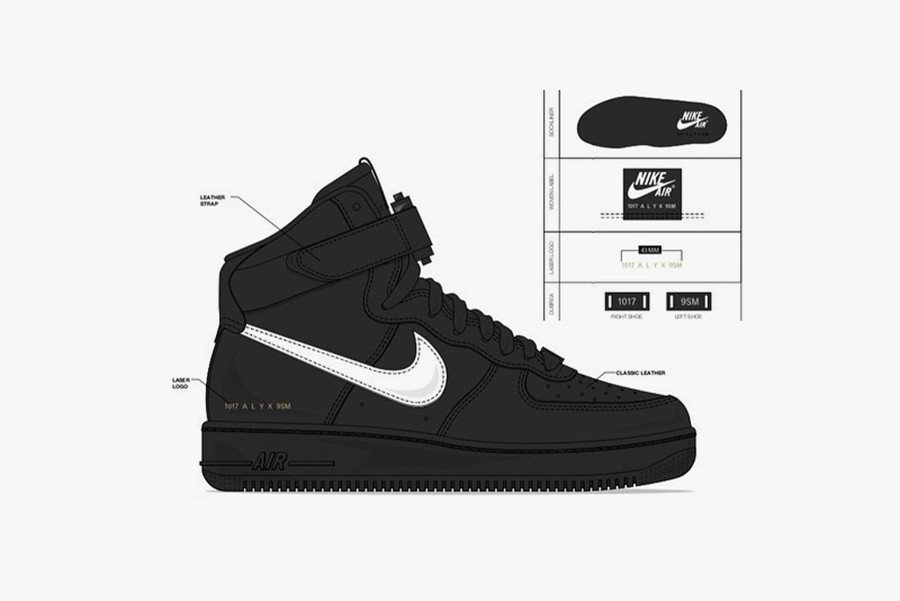 ALYX STUDIO x Nike Air Force 1 Collab