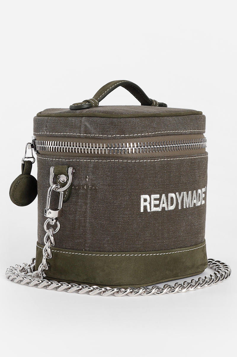 READYMADE Vanity Bag green white release info bags accessories Yuta Hosokawa chain embroidery