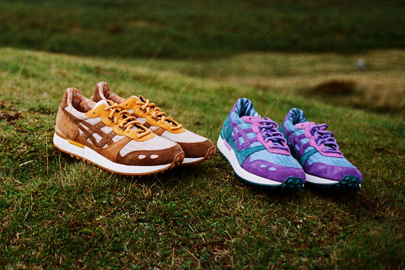 YMC x ASICSTIGER GEL-LYTE XT Release Details Raffle Register Video Lookbook Brown Sand White Purple Blue T-shirt Socks trekking hiking Fraser Cook You Must Create London Collaboration