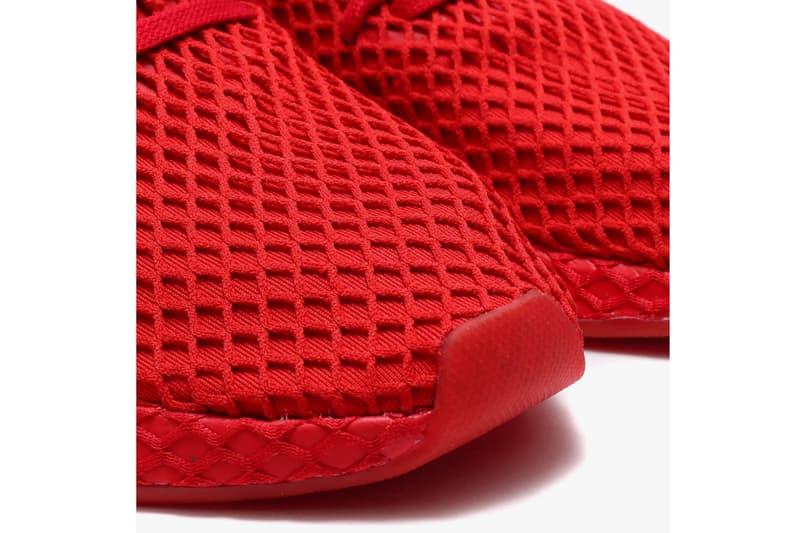 atmos x adidas Deerupt All-Red Release Date sneaker metallic gold atmos japan november