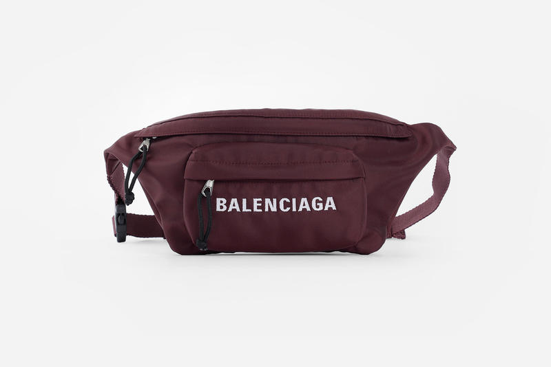 Balenciaga Fall Winter 2018 Belt Bag cross body Burgundy accessories pouches release info
