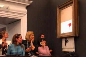 Banksy Artwork Self-Destructs After Being Sold for $1.4 Million USD