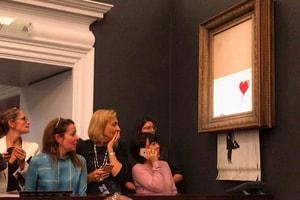 Banksy Artwork Self-Destructs After Being Sold for $1.4 Million USD
