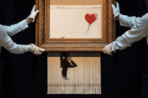 Banksy Releases Video Documenting the Process of Shredding the 'Girl With a Balloon'
