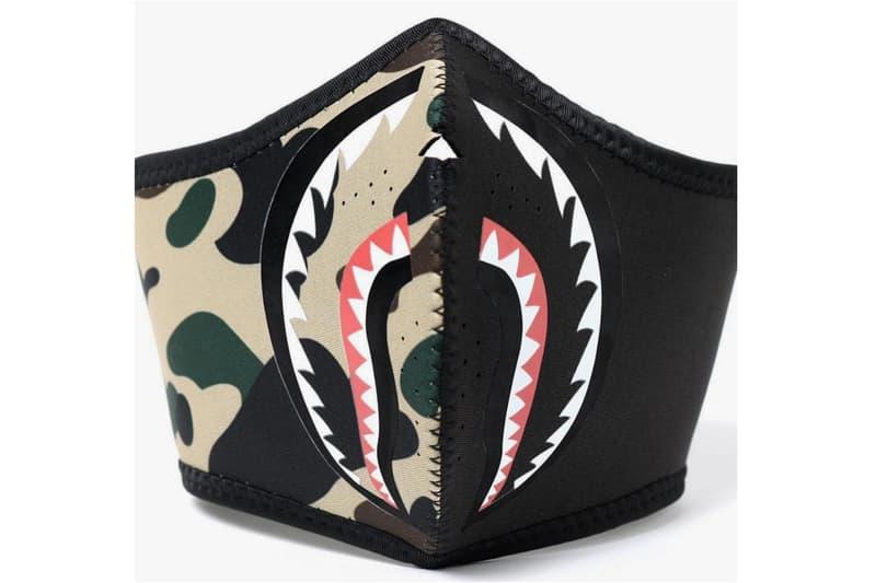 BAPE 1ST Camo Shark Masks Fall/Winter 2018 a bathing ape ape head