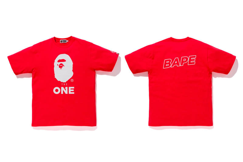 bape ea sports collection red shirt