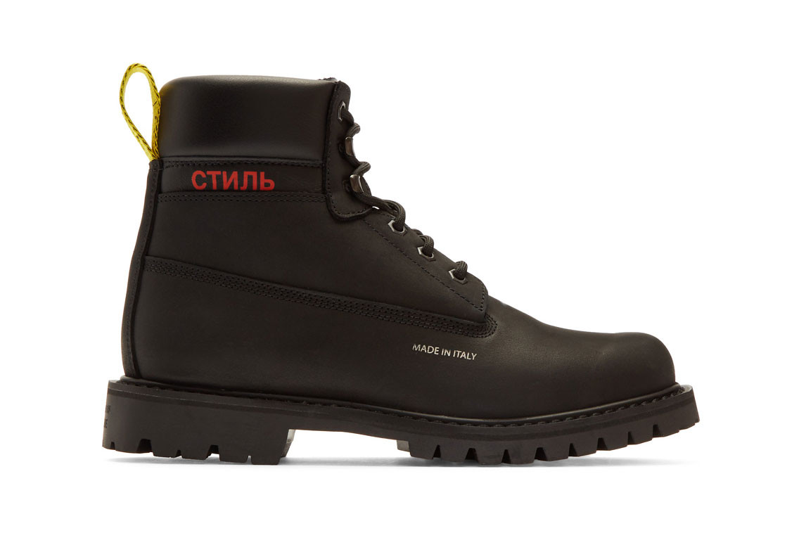 fall 2018 best boot shoe footwear list top 15 design heron preston undercover etq eytys mastermind world danner dr martens 1460 yohji yamamoto collaborations alyx roa matthew williams mr porter farfetch ssense h lorenzo blundstone macys polo ralph lauren timberland gaiter bootkanye west yeezy supply season nike sfb field combatland rover clarks vibram gore tex shopping