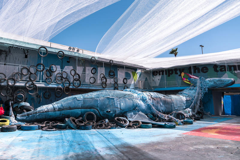 bordalo ii wild wild waste installation las vegas artworks trash recycle