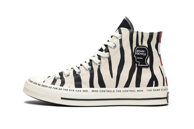 5566a88053d47 Brain Dead Converse Chuck Taylor All Star 70 Egret Black Multi zebra  stripes camo stars Kyle