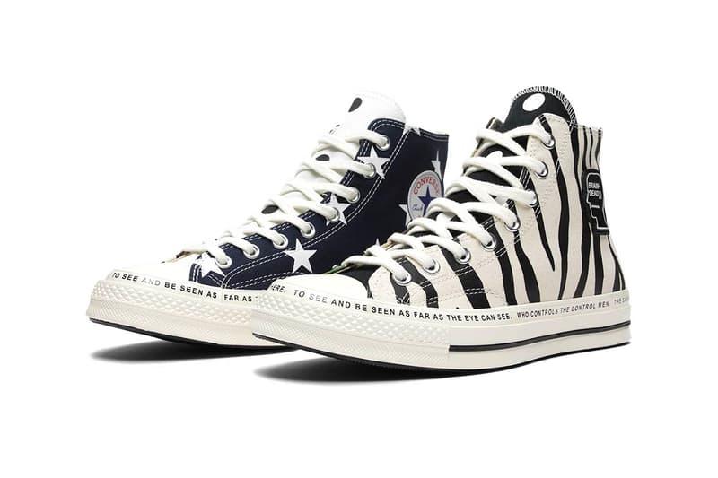 65416a5e3a25 Brain Dead Converse Chuck Taylor All Star 70 Egret Black Multi zebra  stripes camo stars Kyle