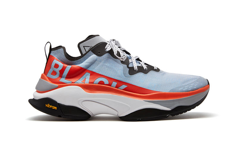 Brandblack Fall Winter 2018 Kite Racer footwear David Raysse sneakers shoes kicks trainers colorway black orange white blue monochrome vibram