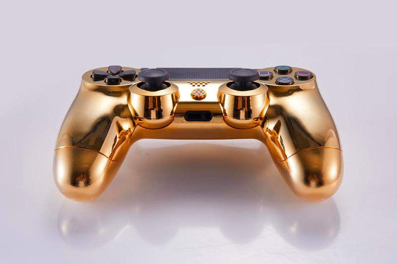 Brikk Sony PlayStation 4 Lux DualShock 4 Controller classic deluxe Gold Plated diamond Encrusted