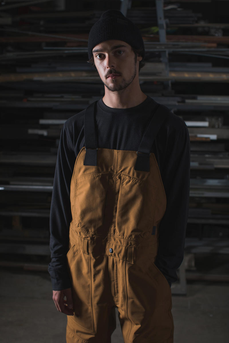 Burton x Carhartt WIP Capsule Collection Mountain Performance Wear Jacket Overalls Backpack Gloves Beanie