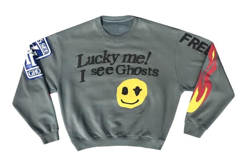 Cactus Plant Flea Market kids see ghosts sweater crewneck pullover shirt kid cudi smiley face october 31 2018 halloween drop release date info buy