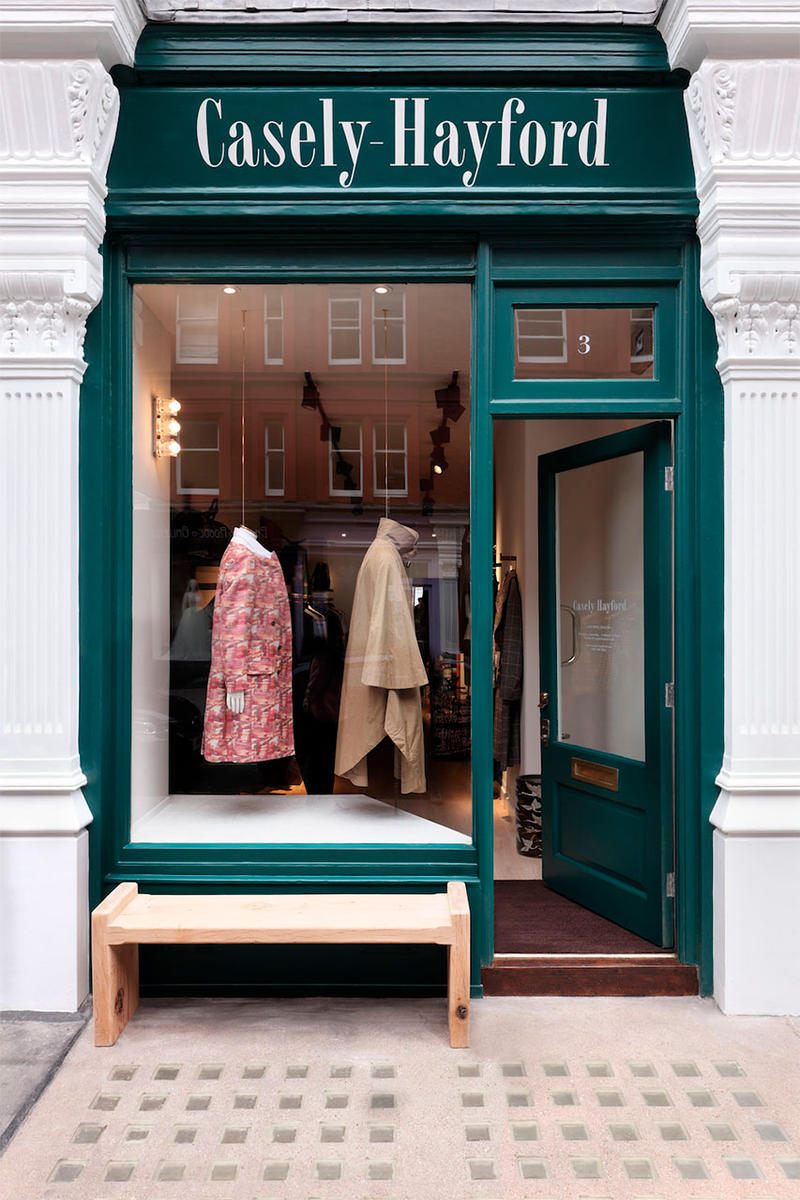 Casely Hayford London Store Inside Closer Look Fashion Clothing High-End Interior Exterior Design